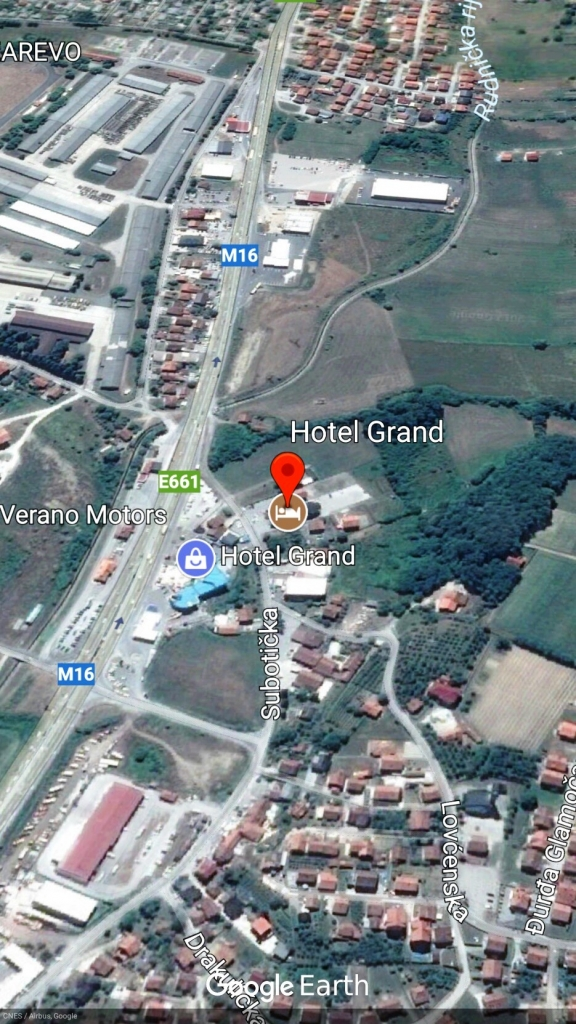 Hotel GRAND, Google Earth mapa